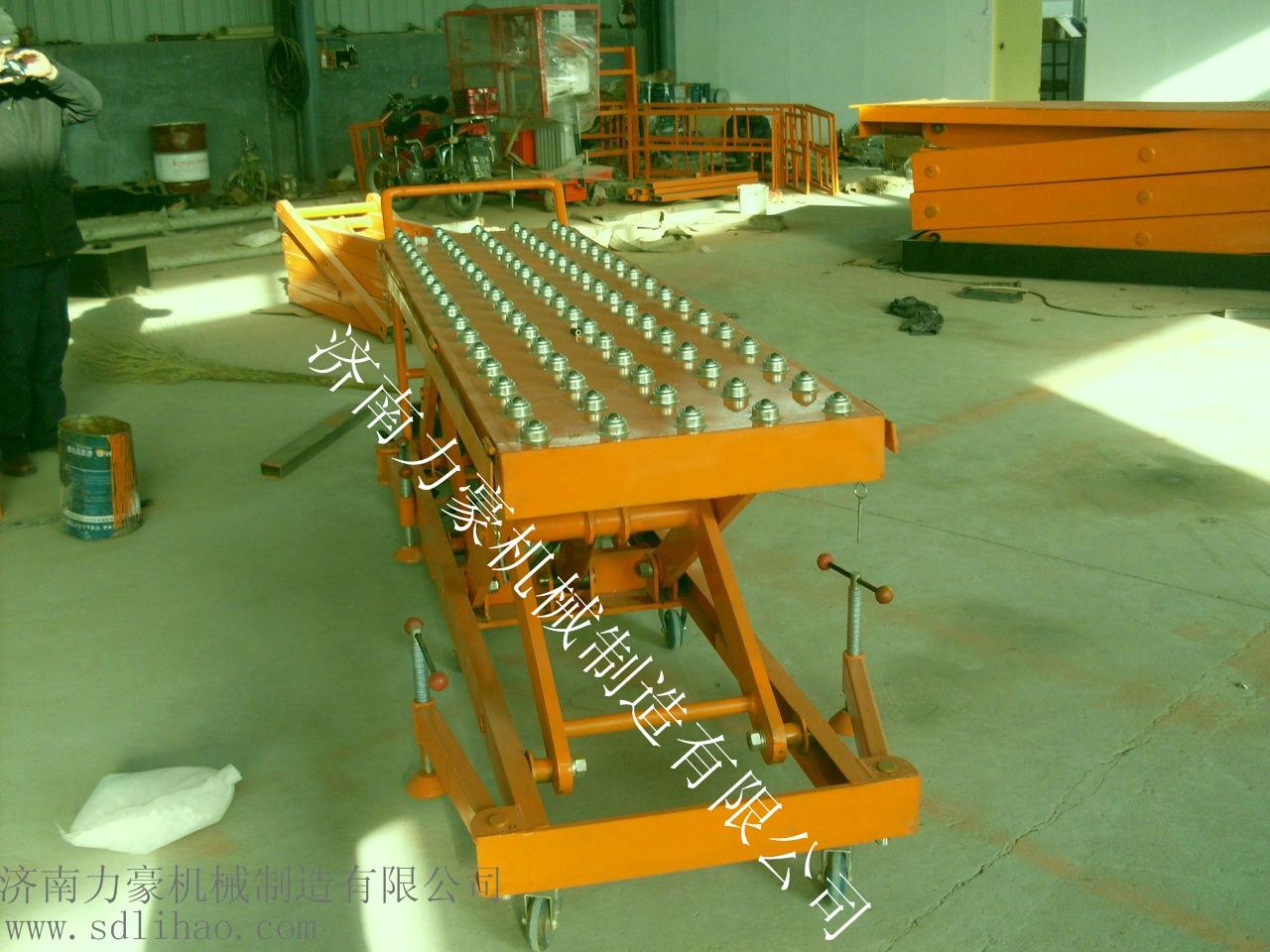 主要结构为剪叉式结构,可实现功能有    ●升降平台台面可安装滚筒和